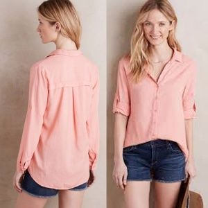 cloth & stone Women Shirt Button Down  Pink Asbury